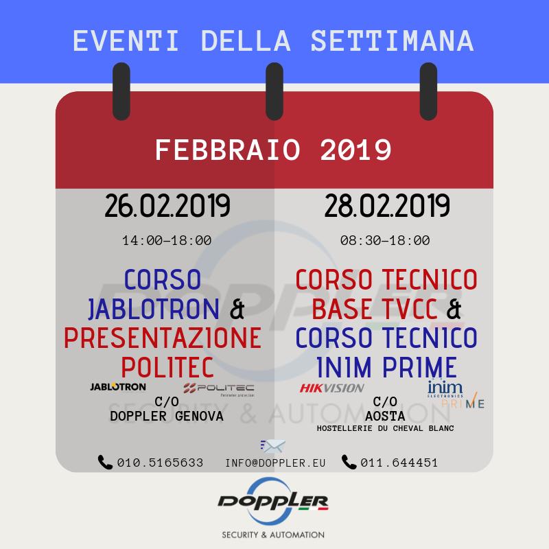 Calendario Corsi.Calendario Corsi Febbraio 2019 Doppler