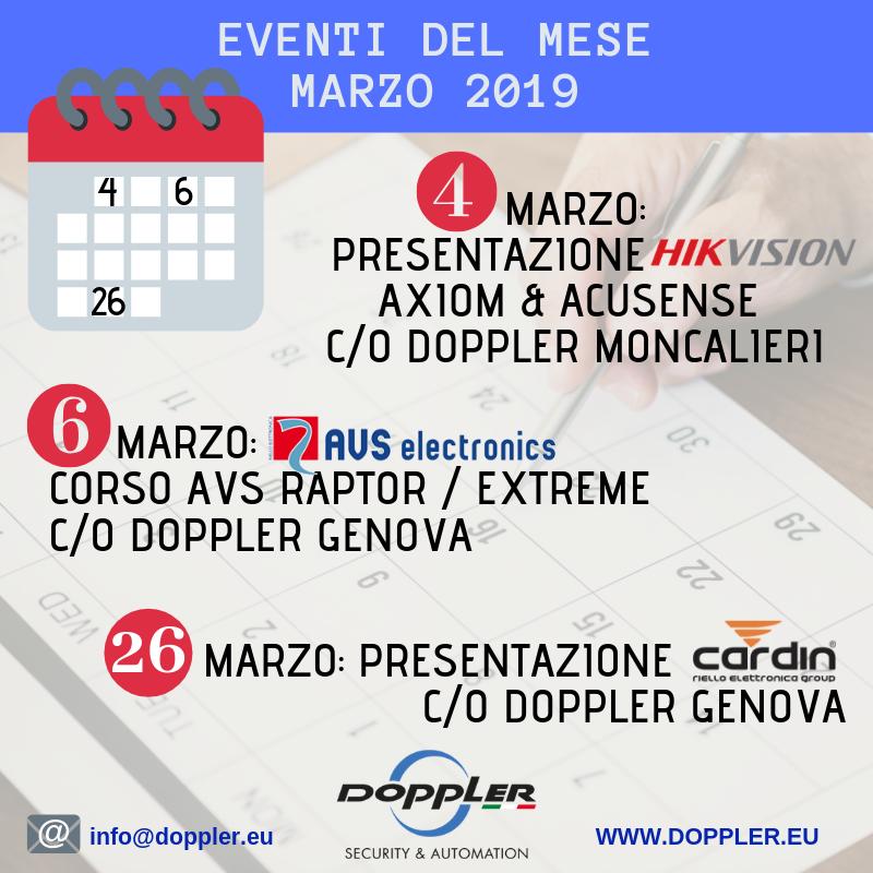 Calendario Corsi.Calendario Corsi Ed Eventi Marzo 2019 Doppler